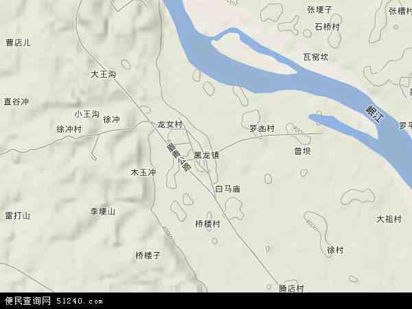 黑龙镇地图 - 黑龙镇卫星地图
