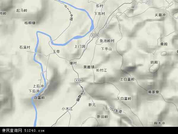 中國廣東省韶關市樂昌市黃圃鎮地圖(衛星地圖)圖片