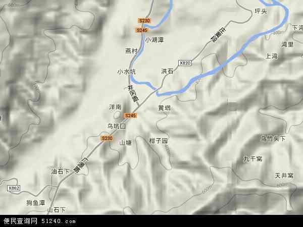 中国江西省吉安市井冈山市黄垇乡地图(卫星地图)