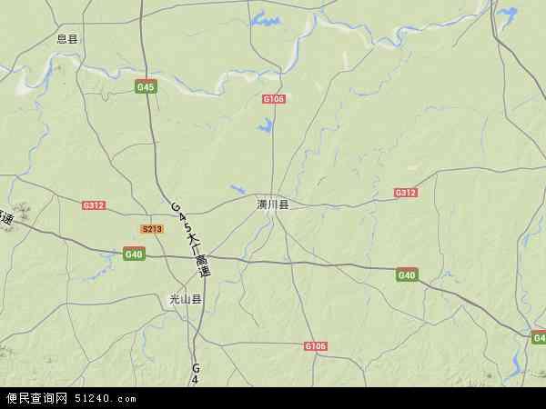 中国河南省信阳市潢川县地图(卫星地图)