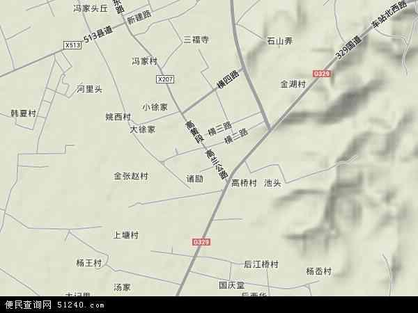 中国浙江省宁波市余姚市黄家埠镇地图(卫星地图)