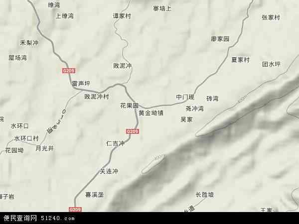 中国湖南省怀化市鹤城区黄金坳镇地图(卫星地图)