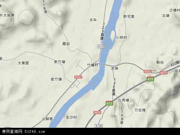 中国广西壮族自治区桂林市全州县黄沙河镇地图