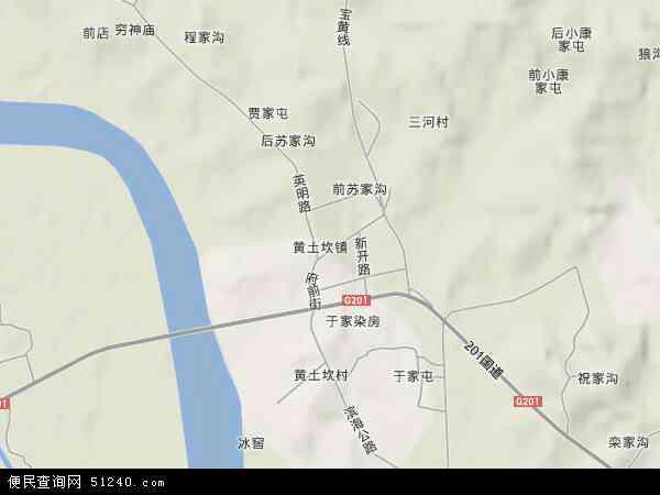 中国辽宁省丹东市东港市黄土坎镇地图(卫星地图)
