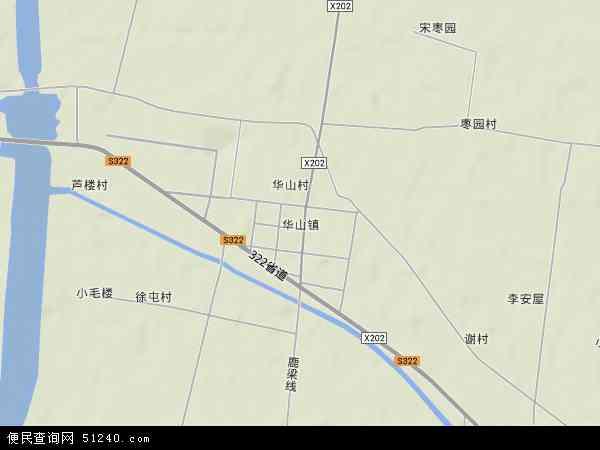 中国江苏省徐州市丰县华山镇地图(卫星地图)