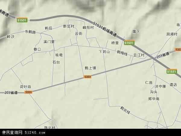 鹤上镇地图 - 鹤上镇卫星地图