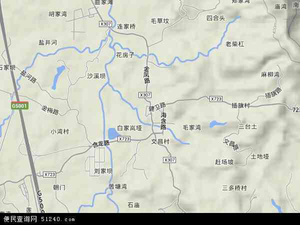 中国重庆市九龙坡区金凤镇地图(卫星地图)