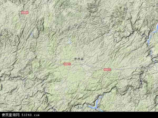 中国贵州省毕节市黔西县锦星镇地图(卫星地图