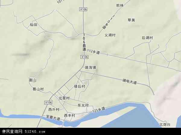 中国广东省揭阳市惠来县靖海镇地图(卫星地图)