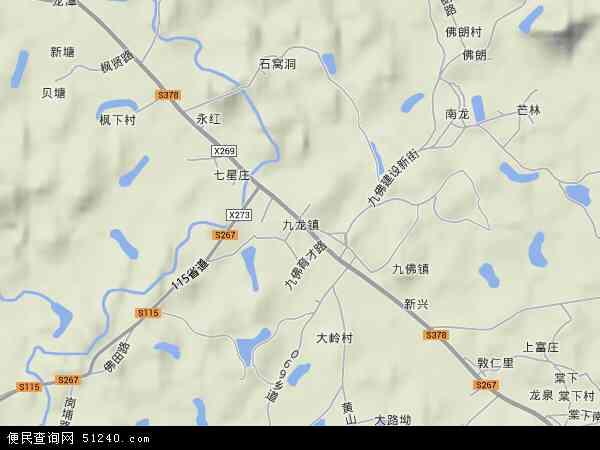 九龙镇高清卫星地图 九龙镇2017年卫星地图 中国广东省广州市萝岗