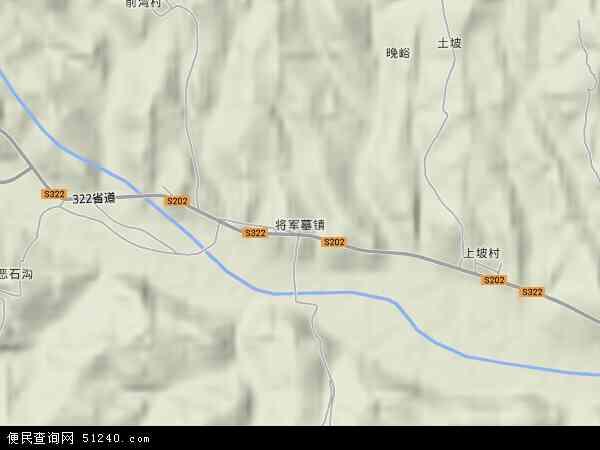 中国河北省邢台市邢台县将军墓镇地图(卫星地图)