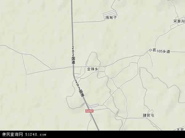 中国吉林省吉林市龙潭区金珠工业区地图(卫星地图)