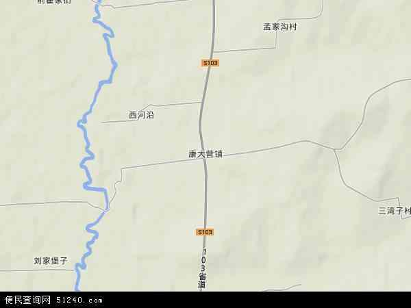 中国吉林省通化市梅河口市康大营镇地图(卫星地图)