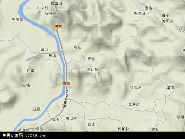 中国福建省泉州市安溪县龙门镇地图(卫星地图)