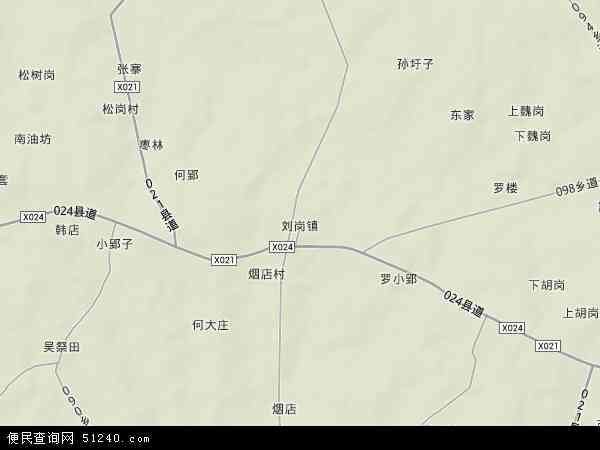 中国安徽省六安市寿县刘岗镇地图(卫星地图)