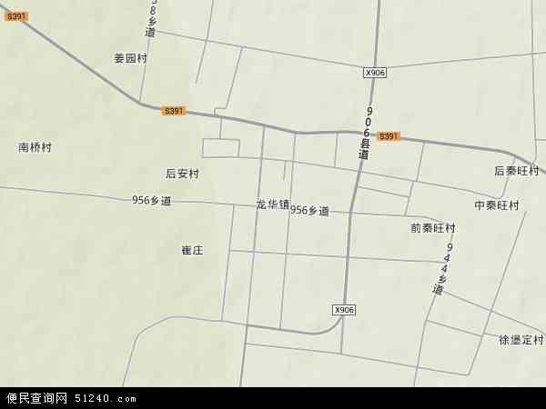 中国河北省衡水市景县龙华镇地图(卫星地图)
