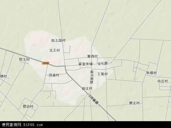 中国山东省济宁市嘉祥县梁宝寺镇地图(卫星地图)