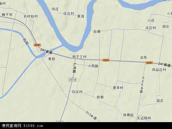 中国河南省漯河市舞阳县莲花镇地图(卫星地图)
