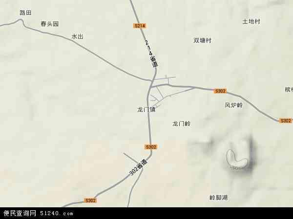 定安县龙门镇地图