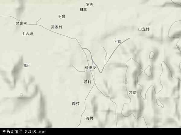 中国广西壮族自治区来宾市象州县妙皇乡地图