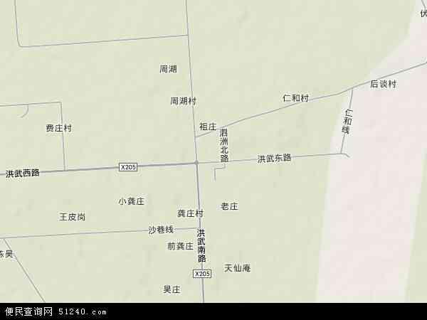中国江苏省淮安市盱眙县明祖陵镇地图(卫星地图)