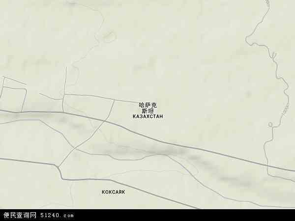 南哈萨克斯坦地形地图