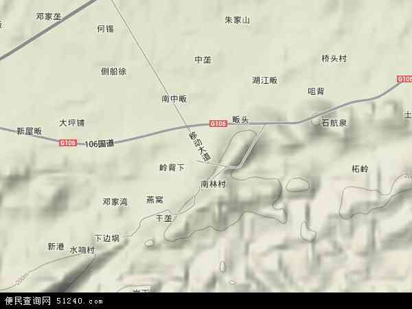 南林桥镇地图 - 南林桥镇卫星地图