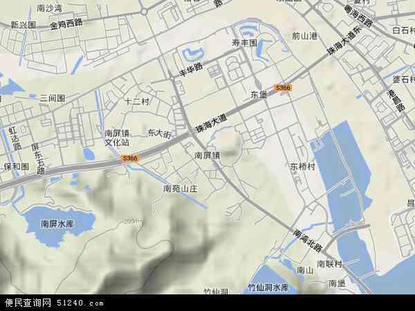 珠海拱北手绘地图