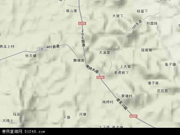 南桥镇2018年卫星地图 中国江西省赣州市寻乌县南桥镇地图图片