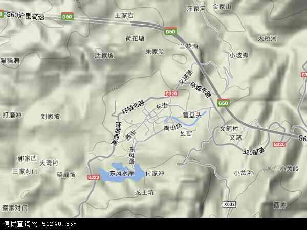 盘水镇地图 - 盘水镇卫星地图