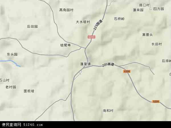 中国海南省省直辖县级行政区划文昌市蓬莱镇地图(卫星地图)