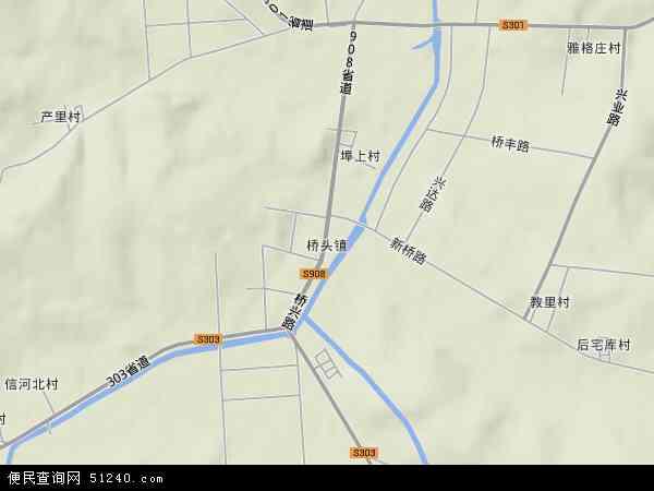 桥头镇2018年卫星地图 中国山东省威海市环翠区桥头镇地图