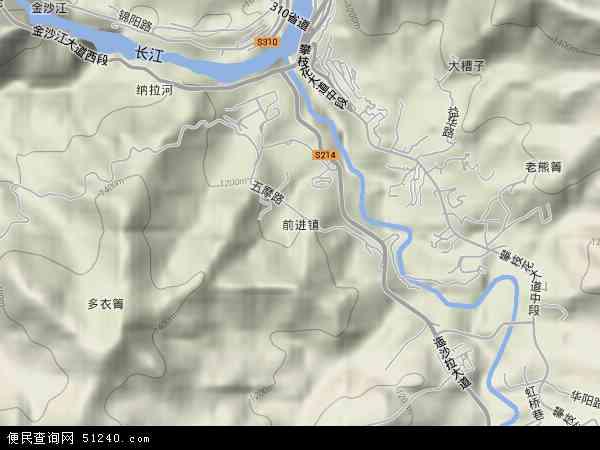 前进镇地图(卫星地图)