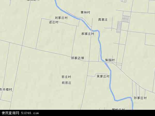 中国山东省泰安市泰山区邱家店镇地图(卫星地图)