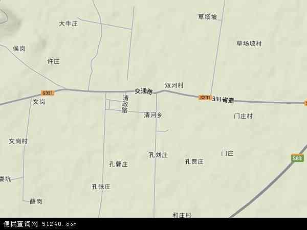 清河乡地图 - 清河乡卫星地图