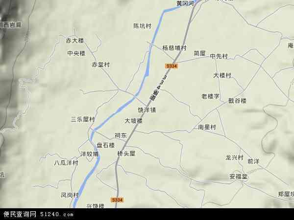 中国广东省潮州市饶平县饶洋镇地图(卫星地图)