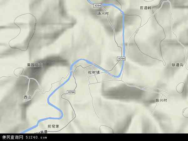 中国吉林省白山市江源区松树镇地图(卫星地图)