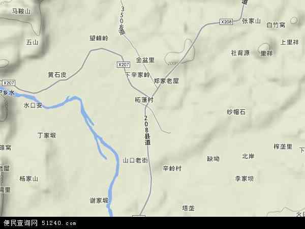 山口镇地形地图