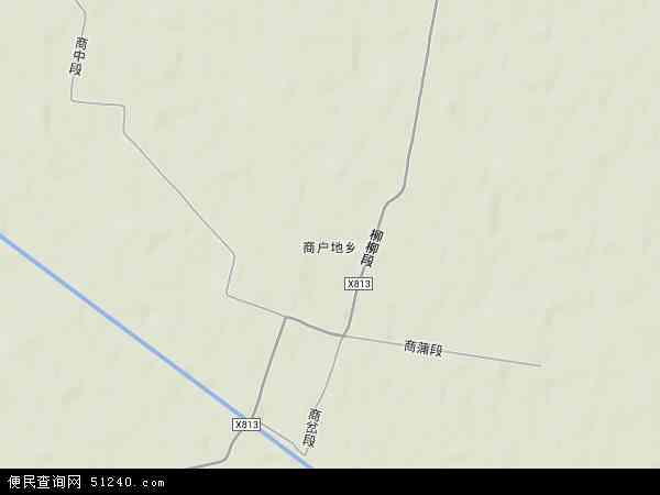 中国新疆维吾尔自治区塔城地区沙湾县商户地乡地图