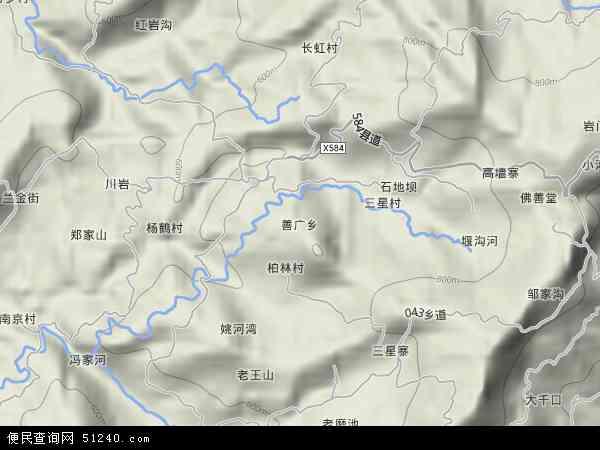 中国重庆市忠县善广乡地图(卫星地图)