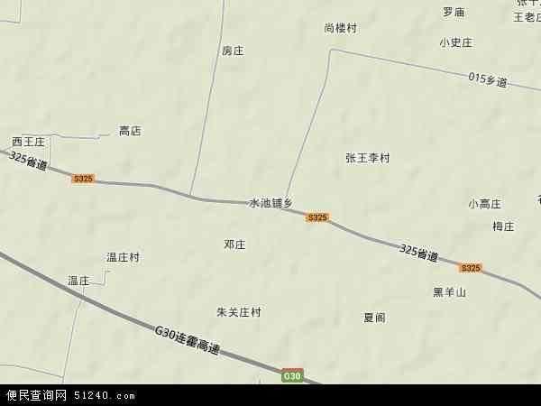 中国河南省商丘市梁园区水池铺乡地图(卫星地图)图片