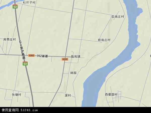 中国山东省临沂市郯城县胜利镇地图(卫星地图)