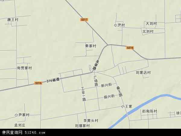 中国山东省滨州市惠民县桑落墅镇地图(卫星地图)