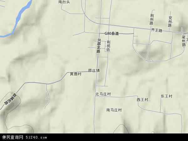 中国山东省潍坊市青州市邵庄镇地图(卫星地图)
