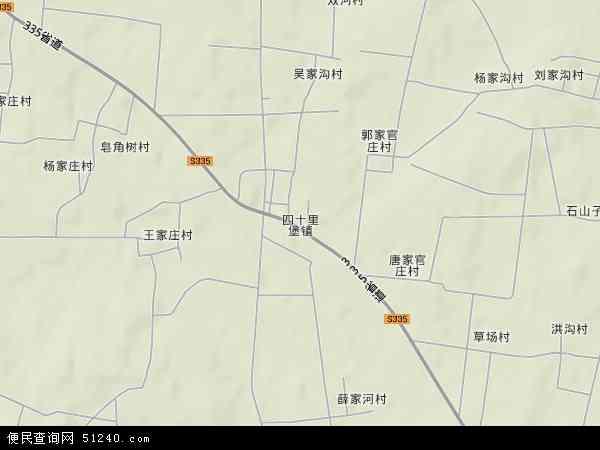 中国山东省临沂市沂水县四十里堡镇地图(卫星地图)