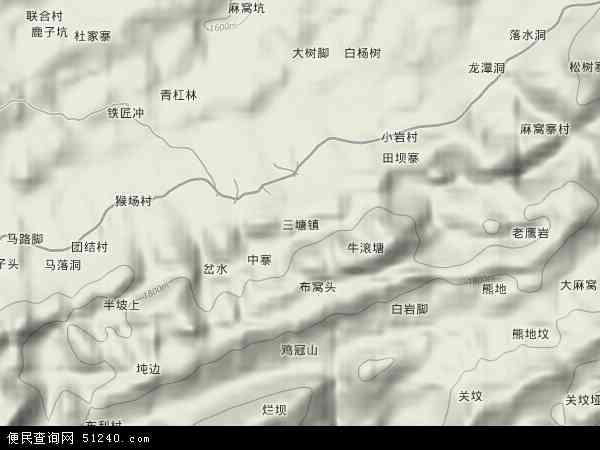 中国贵州省毕节市织金县三塘镇地图(卫星地图)