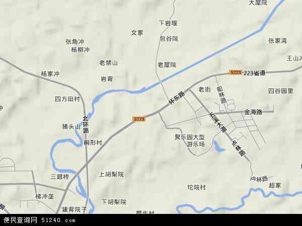 中国湖南省怀化市鹤城区石门乡地图(卫星地图)