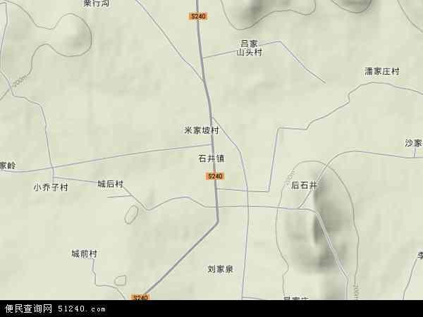 中国山东省临沂市费县石井镇地图(卫星地图)