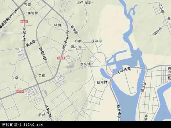 水头镇地图 - 水头镇卫星地图