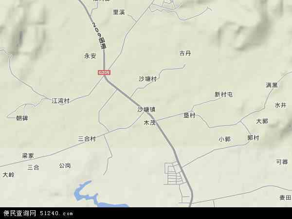 中国广西壮族自治区柳州市柳北区沙塘镇地图